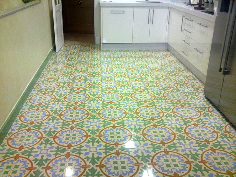 Dekorfliesen Küche Casa:1 Zementfliesen